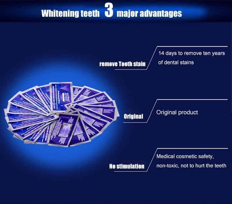 קרסט ערכה להלבנת שיניים 40 פסים! Crest Professional Effects