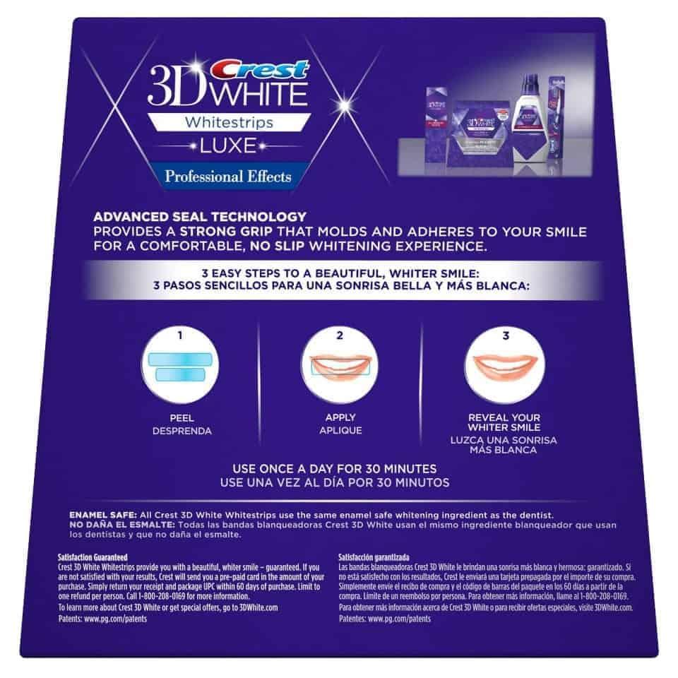 מאוד קרסט - מדבקות הלבנת השיניים הטובות בעולם Crest Professional FS-61
